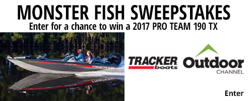 Monster Sweeps Enter for a Chance to Win 2017 Pro Team 190 TX with Mercury 115 Pro XS Motor and Custom Trailer