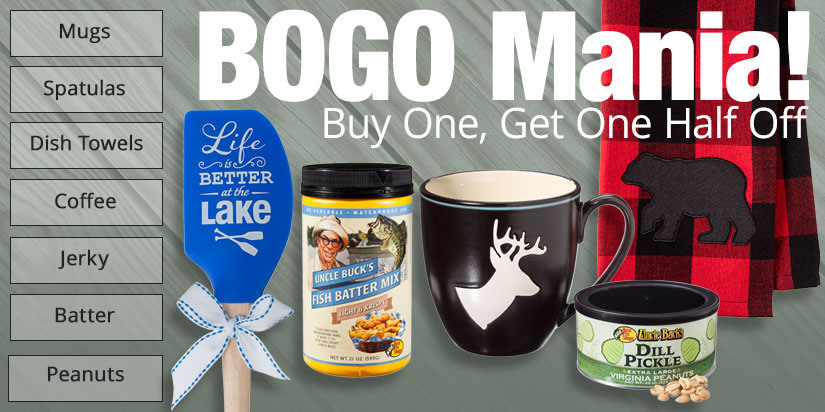 BOGO Mania! Buy One, Get One Half Off
