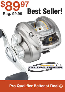 Pro Qualifier Baitcast Reel - $89.97 - Shop Now