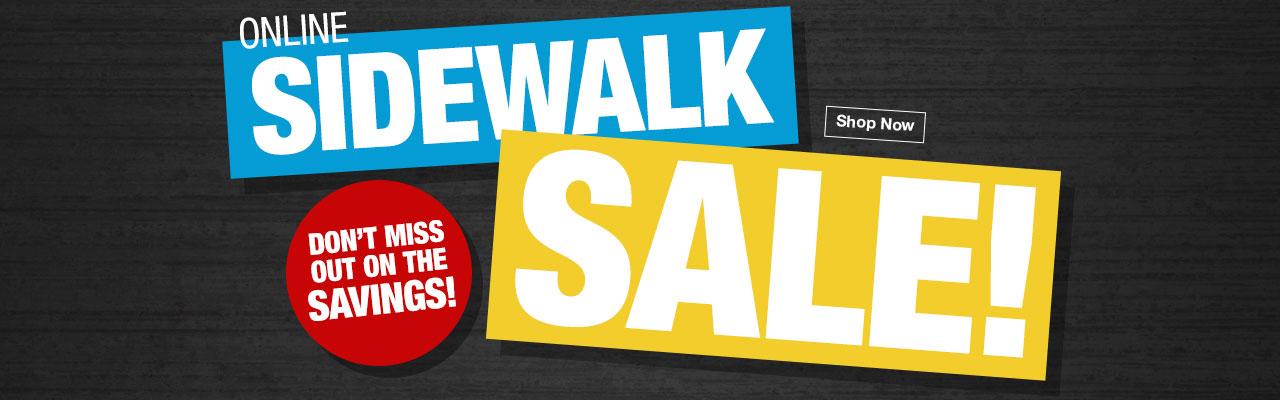 Online Sidewalk Sale!