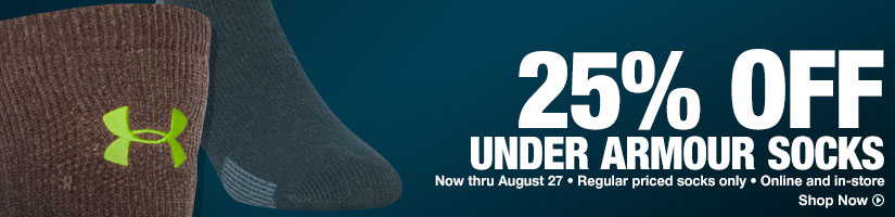 25% Off Under Armour Socks - Shop Now