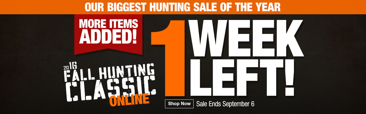 1 Week Left for Fall Hunting Classic Online Sale