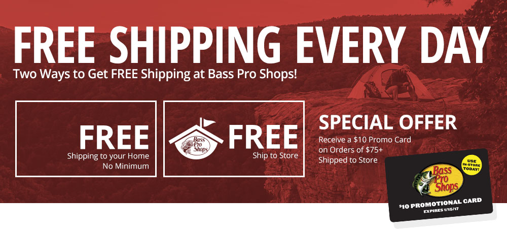 Two ways to get free shipping at Bass Pro Shops