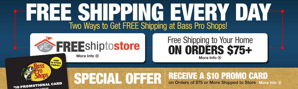 Free Shipping Every Day - Two Ways to Get FREE Shipping at Bass Pro Shops