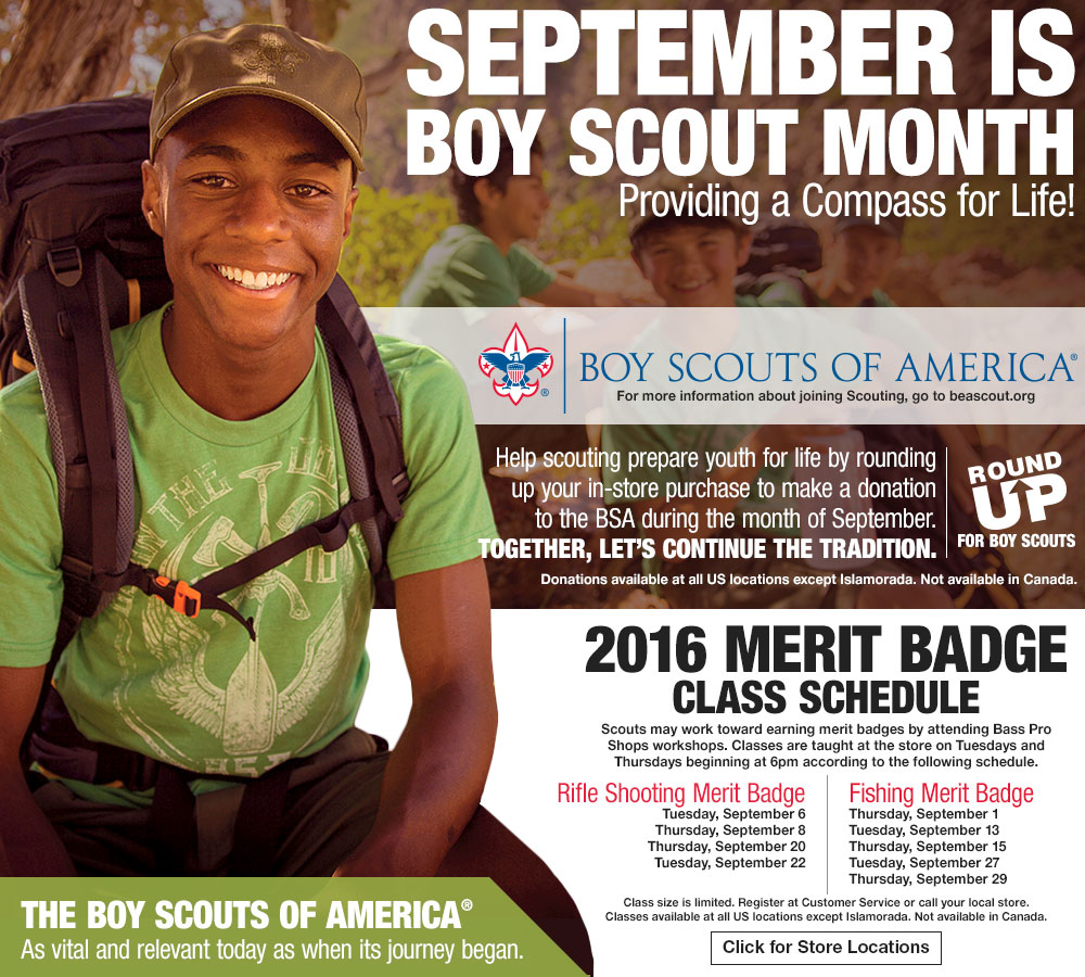 September Is Boy Scout Month - Click For Store Locations