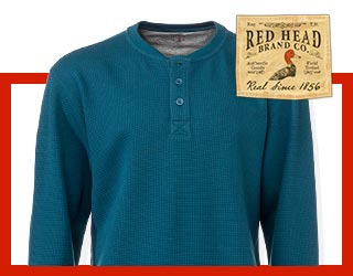 RedHead Thermal Henley Shirts for Men
