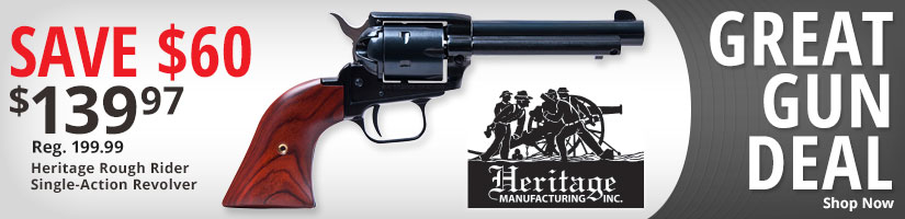 Gun of the Week Save $60 Heritage Rough Rider Single-Action Revolver - Shop Now