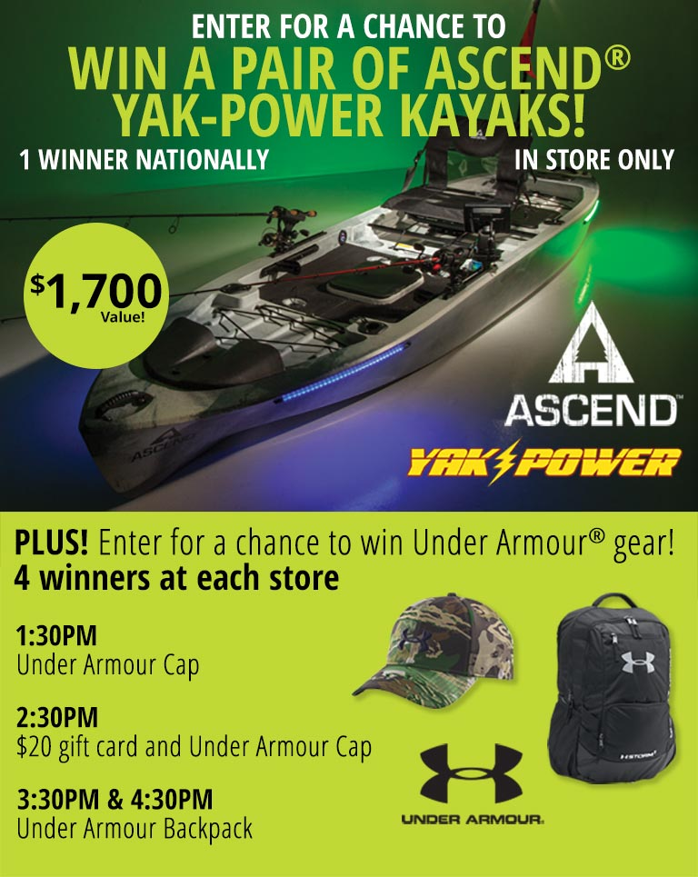 Win a pair of ascend yak-powered kayaks!