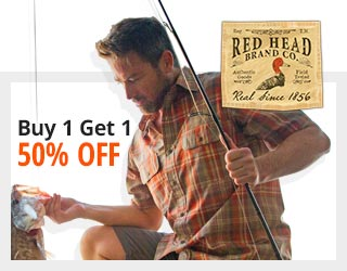 RedHead Castmaster Shirt for Men Buy 1 Get 1 50% OFF Reg. Price