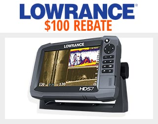 Lowrance HDS-7 Gen3 Mid/High/TotalScan Insight USA Fishfinder/Chartplotter $1099.99 - $100 Rebate