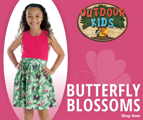 Shop Outdoor Kids' Butterfly Blossoms