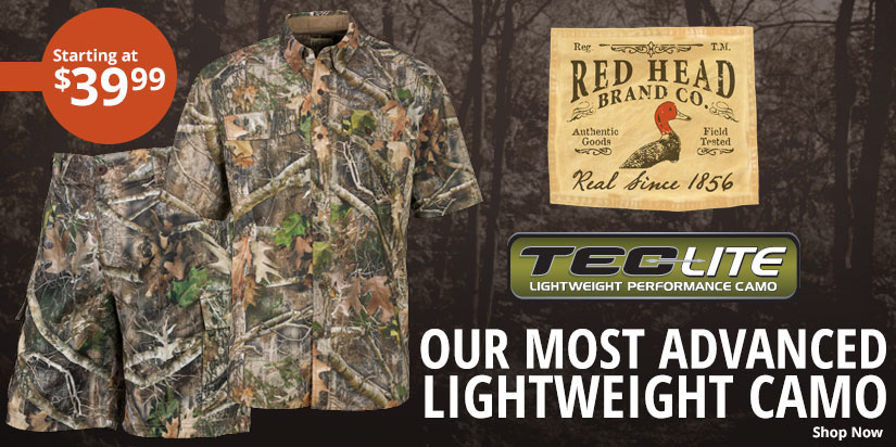 Our Most Advanced Lightweight Camo; RedHead Tec Lite