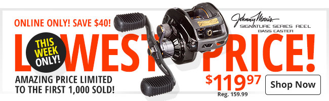 Lowest Price Ever! Bass Pro Shops Johnny Morris Signature Series Bass Caster Reel!