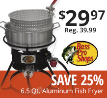 Camping backpacking hiking gear bass pro shops for Bass pro fish fryer