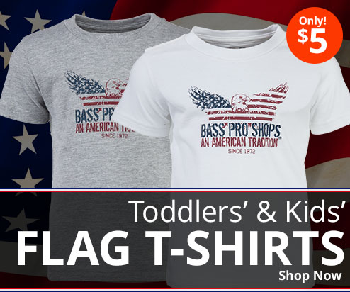 Toddlers' & Kids' Flag T-Shirts - Only $5 - Shop Now