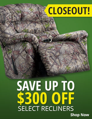 Closeout! Save up to $300 Off Select Recliners