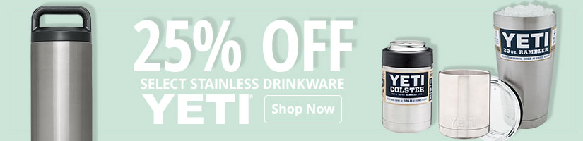 25% Off Select Yeti Stainless Drinkware - Shop Now