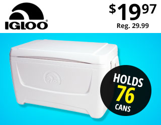 Igloo Marine Breeze 48 Cooler Only $19.97