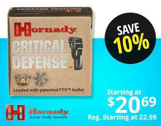 Hornady Critical Defense Handgun Ammo