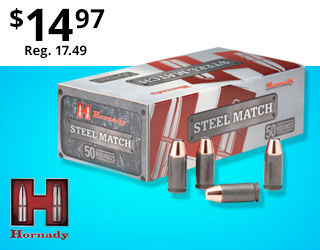 Hornady Steel Match Only $14.97