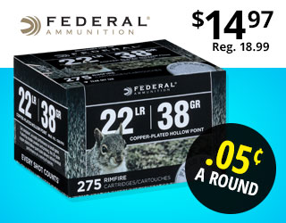 Federal Range & Field 22 LR Ammo Field Pack HP