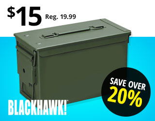 BLACKHAWK! The Can Metal Ammo Box