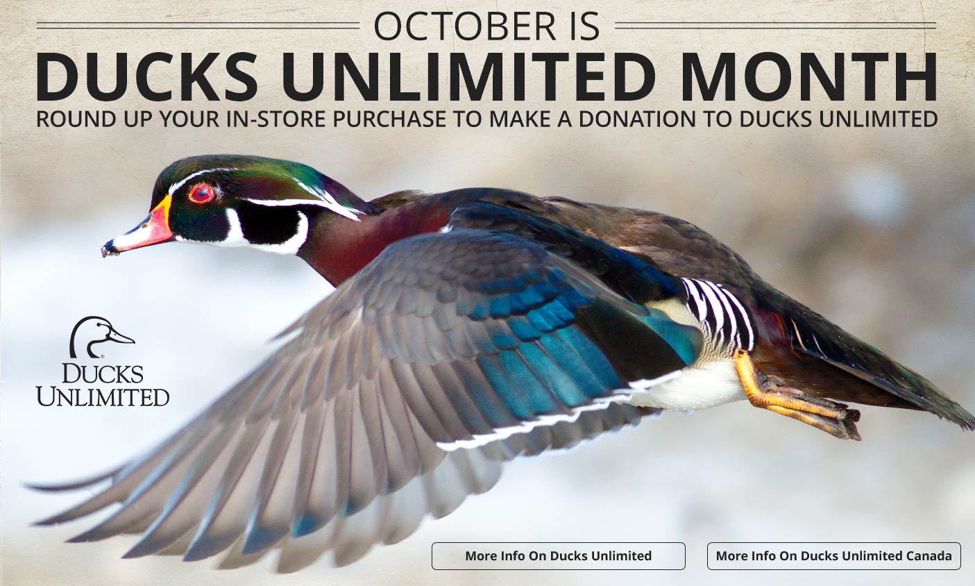 October Is Ducks Unlimited Month - More Info