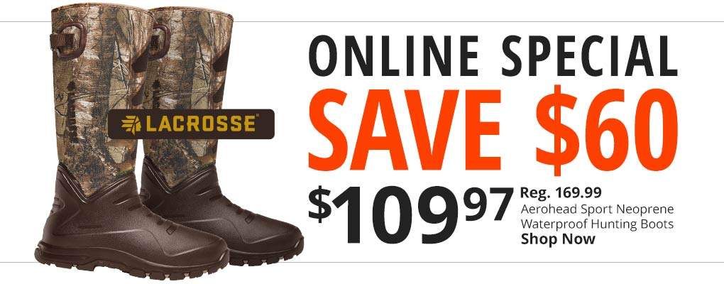 Online Special Lacrosse Waterproof Boots - Save $60