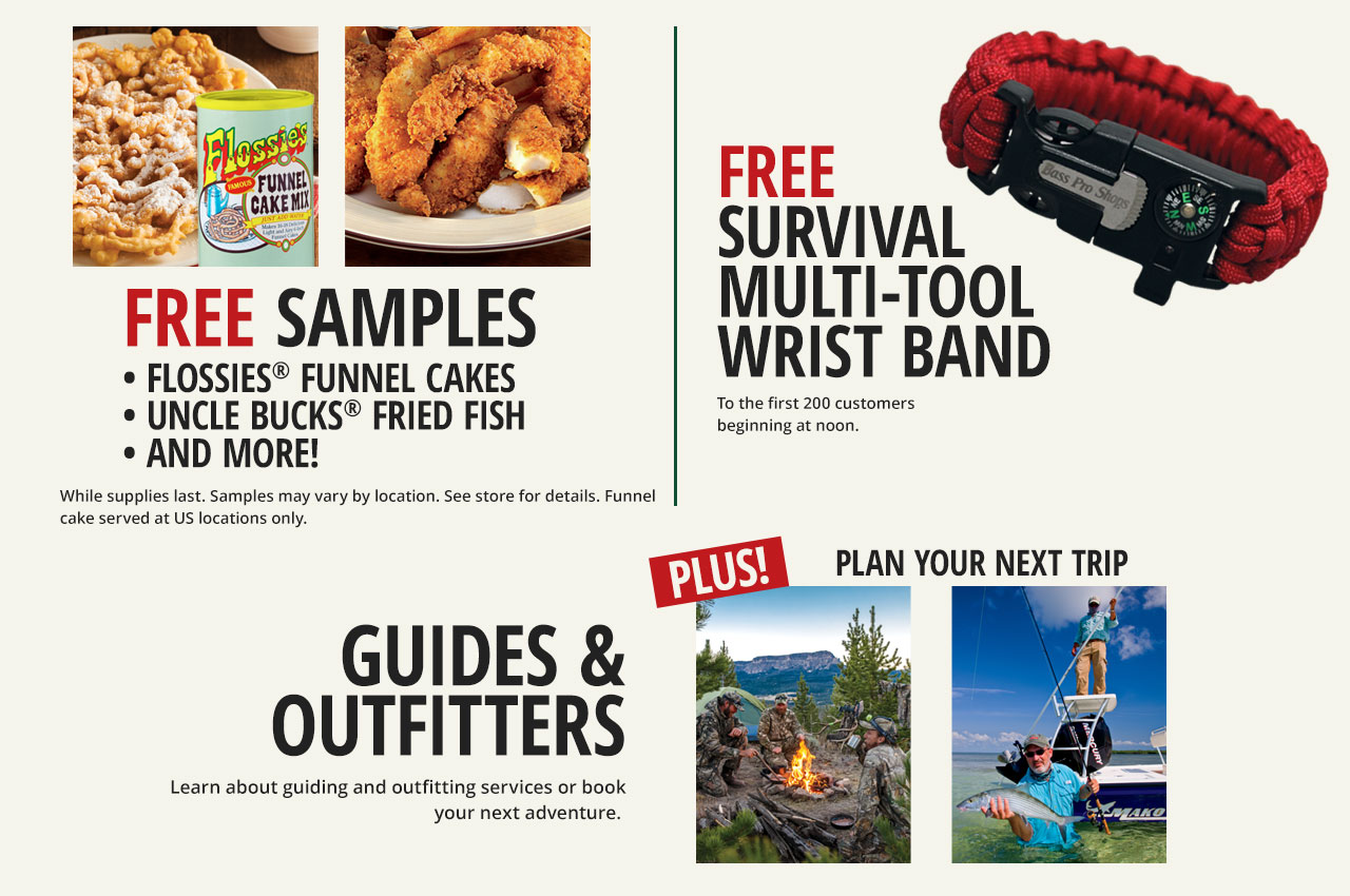 Free Samples, Free Survival Tool, Guides and Outfitters