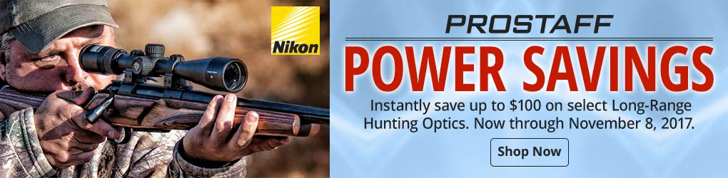 Now Through November 8ht Save Up To $100 On Select Long-Range Hunting Optics - Shop Now