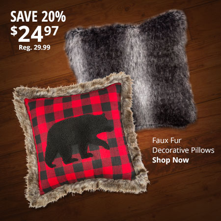 Faux Fur Decorative Pillows