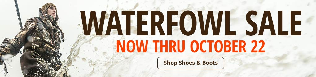 Waterfowl Sale - Now Thru October 22 - Shop Shoes & Boots