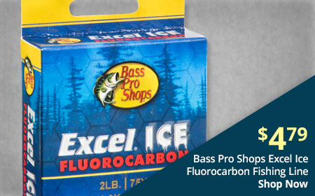 Bass Pro Shops Excel Ice Fluorocarbon Fishing Line