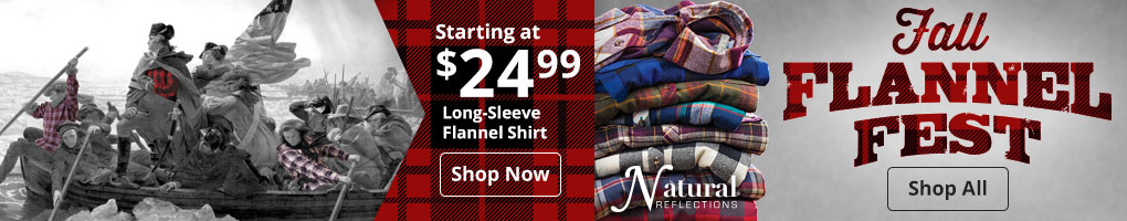 Fall Flannel Fest Shop All - Natural Reflections Long-Sleeve Flannel Shirt Shop Now