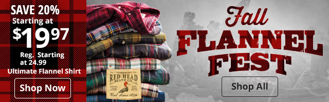 Fall Flannel Fest Shop All - RedHead Ultimate Flannel Shirt Shop Now