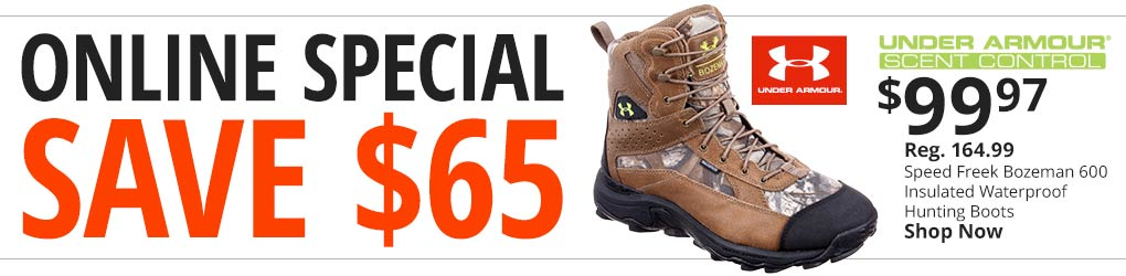 Online Special - Save $65 On Under Armour Insulated Waterproof Hunting Boots