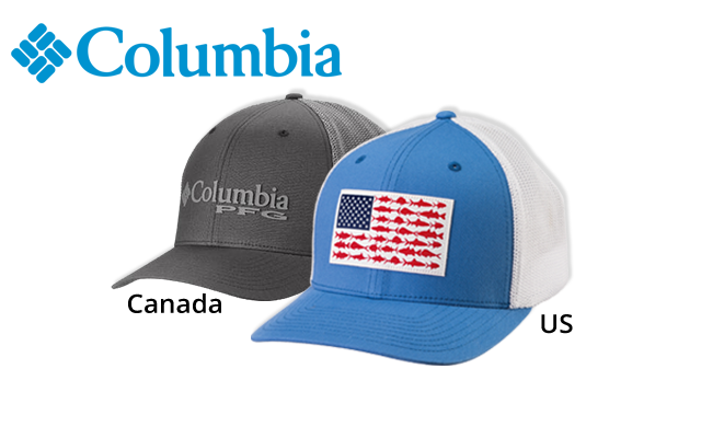 Columbia Fish Flag Ballcap