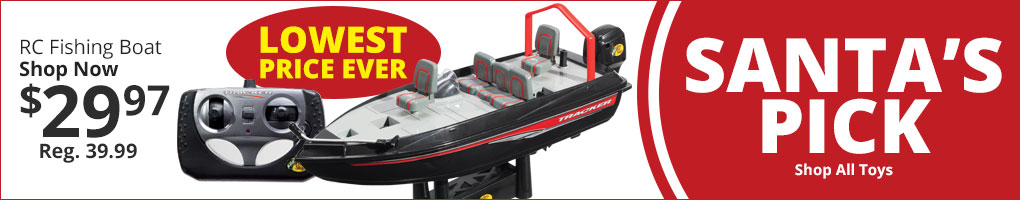 Santa's Pick - RC Fishing Boat Lowest Price Ever
