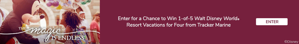 You could win a Walt Disney World vacation from Tracker Marine
