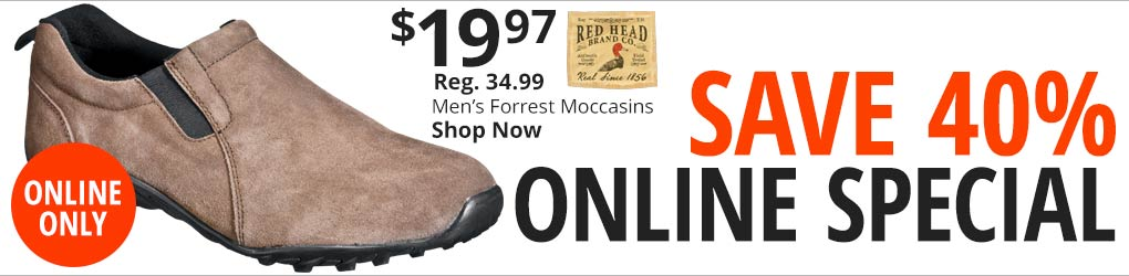 Online Special. Save 40% RedHead Forrest Moccasins for Men. Shop Now