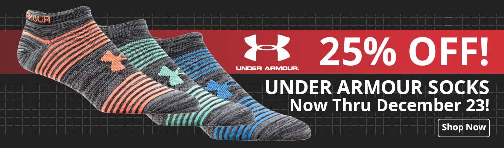 Save 25% on Under Armour Socks