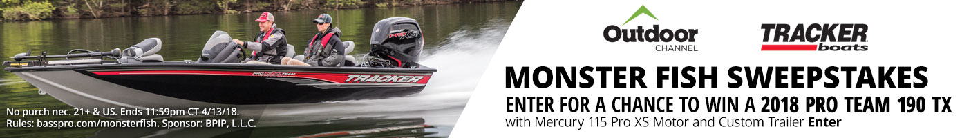 Enter for a chance to 2018 Pro Team 190 TX with Mercury 115 Pro XS Motor and Custom Trailer