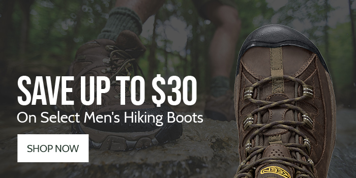 Save up to $30 on Select Men's Hiking Boots
