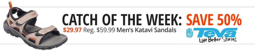 Save 50% on Men's Teva Katavi Sandals