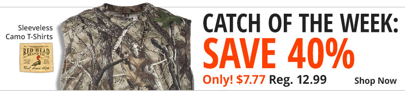 Catch of the Week Save 40% - RedHead Sleeveless Camo T-Shirts Only $7.77 - Shop Now
