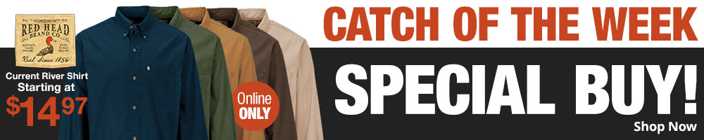 Catch Of The Week - RedHead Current River Shirt - Starting at $14.97 - Shop Now