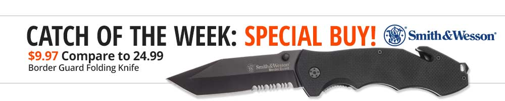 Special Buy Smith & Wesson Border Guard Folding Knife