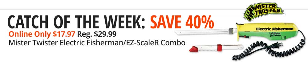 Save 40% on Mister Twister Electric Fisherman/EZ-ScaleR Combo - Shop Now
