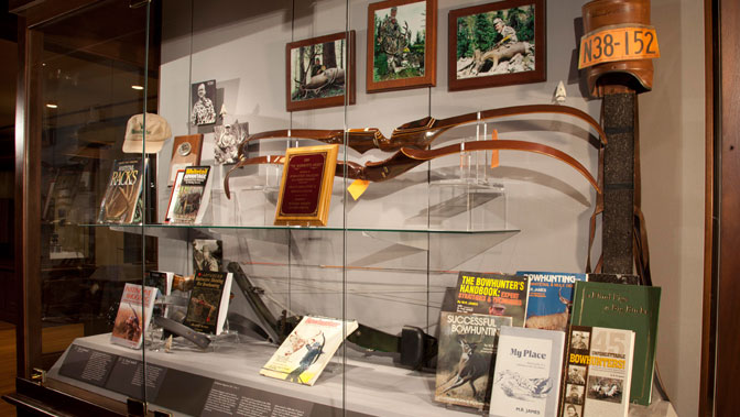 A display at the Archery Hall of Fame and Museum.
