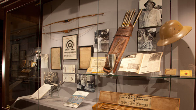 A majority of the 72 members of the Archery Hall of Fame have memorabilia in the Museum